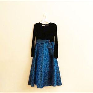 Bonnie Jean black and Blue Girls Dress Sz 14